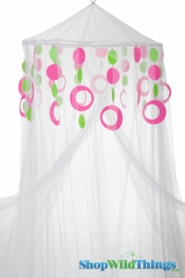 Custom Canopy with Hoops Lime & Pink-Choose Canopy Color!