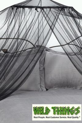 """Canopy - """"Dreamy"""" Mosquito Net Bed Canopy - Black"""