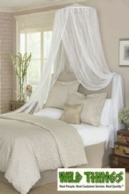 """Canopy -  """"Dreamy"""" Mosquito Net Bed Canopy - White"""
