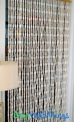 Natural Wooden Beads Curtain