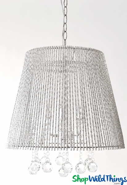 "COMING SOON! Ceiling Lamp Crystal ""Spellbound"" Tubular Shade - 14.5"" x 18""- 3 Lights - Hardwire"