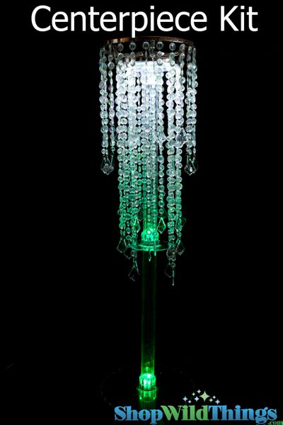 """COMING SOON! Centerpiece Boost Kit - """"Diamante Duo Delight"""" Crystal Iridescent Centerpiece on 39"""" Riser"""