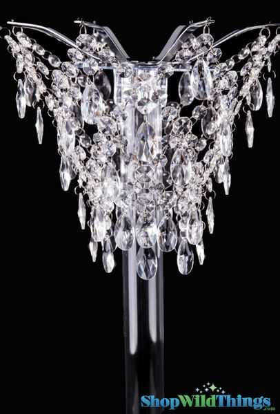 "Centerpiece Chandelier Style Vase Topper (Up to 4"" Diameter Vase) 10""L x 11.5""W"