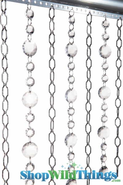 "Chain & Crystal Curtain ""Cameo & Lola"" 3 ft x 6 ft (Custom Available!)"