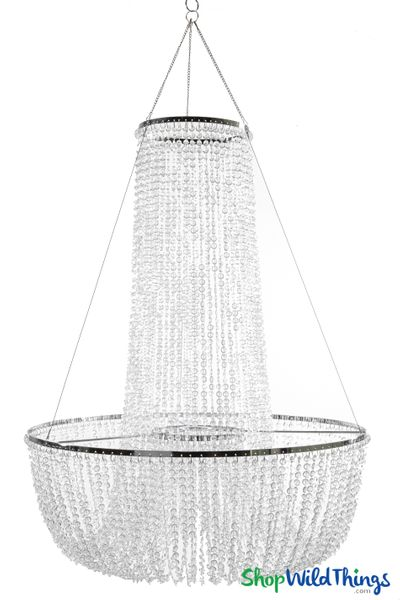"""Chandelier """"Adelaide"""" Tiered Diamond Swags � 30""""H x 23.5""""W"""