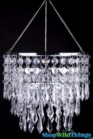 "Chandelier ""April"" 3 Tier Crystal 10.5"" X 10"""