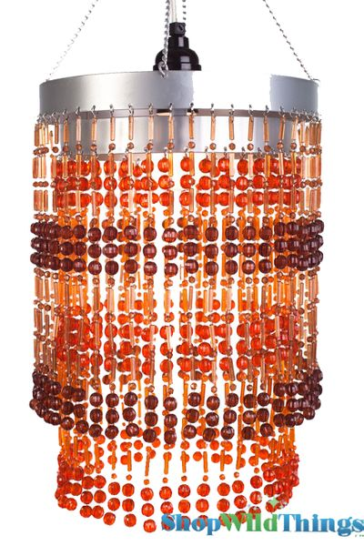 """Chandelier  """"Ashley""""  2-Tier Hanging Lamp, Amber Brown 8 1/2"""" x 12"""""""
