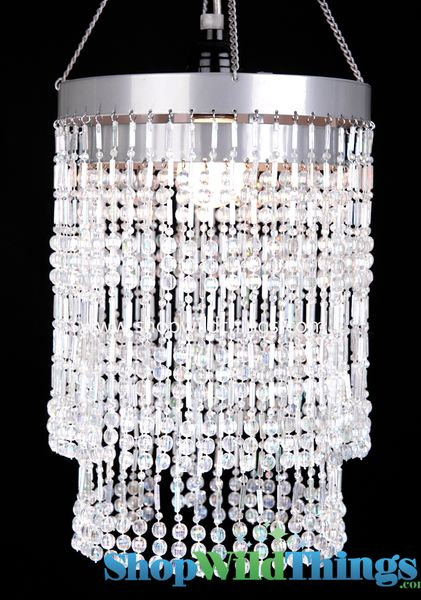 "Chandelier  ""Ashley""  2-Tier Hanging Lamp, Crystal 9"" x 14"""