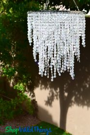 "Chandelier Ashlynn 3 Tiers - Crystal Iridescent - 22"" Long"