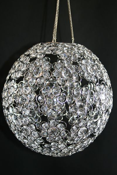 "COMING SOON! Chandelier or Table Decor ""Ayanna"" - Crystal Beaded Sphere 12"" Diameter"