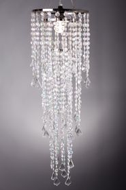 "Chandelier Diamante Duo Delight - Crystal Iridescent - 33.5"" long x 10.25"" Diameter"