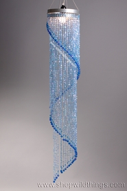 Chandelier Chelsea Swirl Crystals- Blue Iridescent - 4 ft