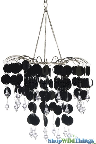 "Chandelier Decoration ""Spangles & Crystals"" - Black"