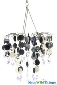 "Chandelier Decoration ""Spangles & Crystals"" - Silver"