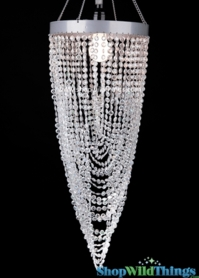 "Chandelier Diana - Diamond Twist - Crystal Iridescent 30"" x 8.5"""