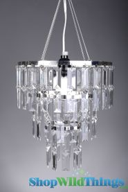 """Chandelier """"Emily"""" w/ Clear Rectangle Crystals"""
