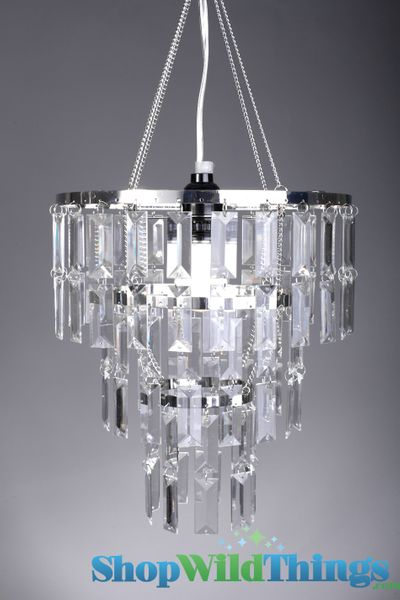 "COMING SOON! Chandelier ""Emily"" w/ Clear Rectangle Crystals"