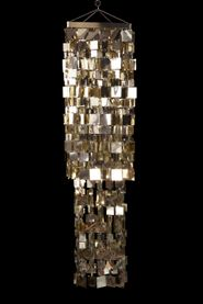 Chandelier Fabulous Square - Light Gold - 4 ft Long