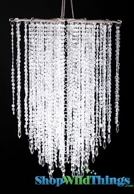 Falling Stars Clear Bead Ceiling Decoration 21 5