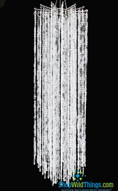 """Chandelier """"Falling Stars"""" 48"""" x 15"""" - As Low As $54.99! - Clear Non-Iridescent Beads"""