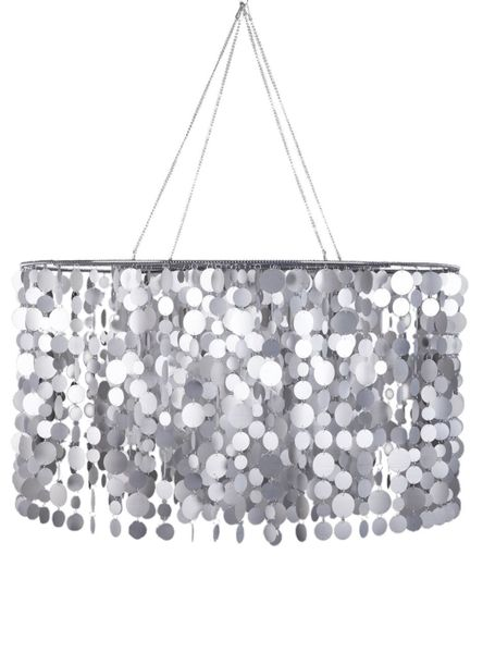 "Chandelier Frosted ""Capiz"" Circles - Matte Silver - 3' Diameter!"