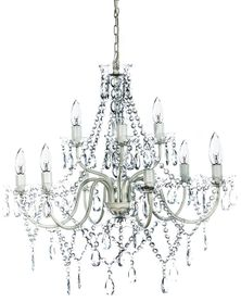 "Chandelier Gypsy Clear - 27"" x 27"" - 9 Lights - Collapsible!"