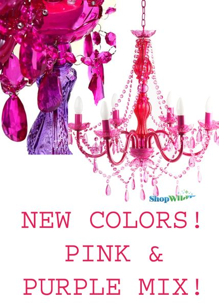 """Chandelier Gypsy Posh Princess - 26"""" x 22"""" -  6 Lights - Hardwire - Collapsible"""