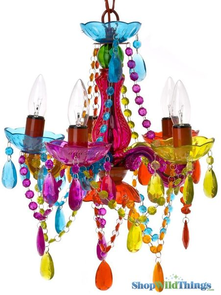 COMING SOON! Chandelier Gypsy Multicolor - Small 5 Lights - Hardwire