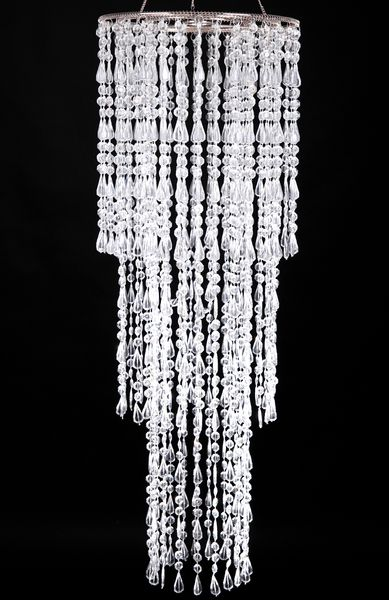 "COMING SOON! Chandelier ""Lafayette"" 12"" x 36"" Crystal Clear"