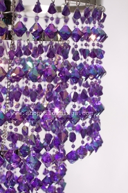 Chandelier Madison - Purple Iridescent