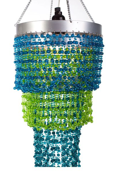 "Chandelier ""Mini Pop"" Blue & Green"