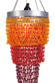 "Chandelier ""Mini Pop"" Orange & Red"