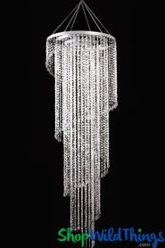 "Chandelier  ""Mirabella""  Crystal - 4 Tier -  6 Feet x 2 Feet!"