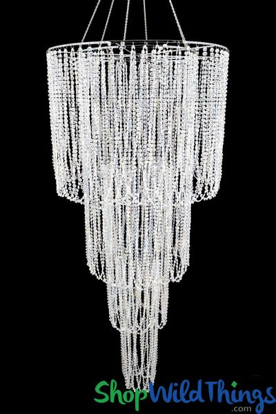 Chandelier Montefiori 4 Tier Iridescent Diamond - 6'