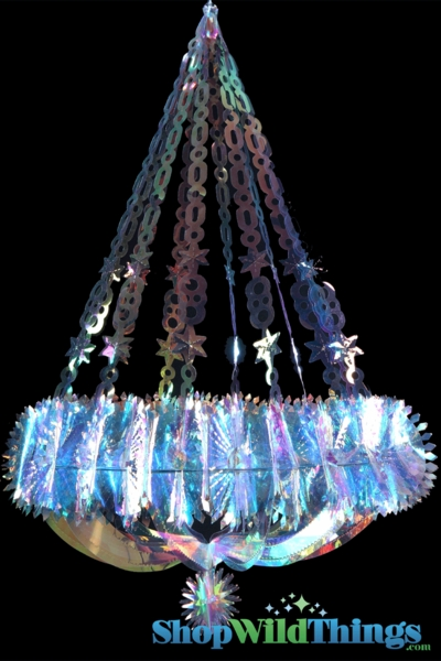 "SALE ! Chandelier ""Neptune"" - Large 22"" x 2.5' Long  - Iridescent, Expanding"