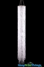 "Chandelier Pippa - Crystal Non-Iridescent - 49"" Long"
