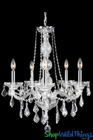 "Chandelier ""Princess Alice"" K9 Crystal & Chrome 21"" x 26"" - 5 Lights!"
