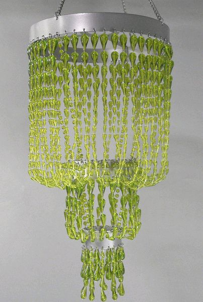 COMING SOON! Chandelier Raindrops - Green Non-Iridescent 24""