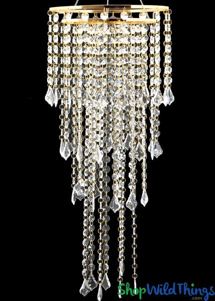 "Chandelier ""Bindi"" 4-Tier Gold Round - 12""D x 36"" L"