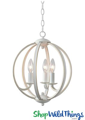 Sphere Chandelier White With Gold Shopwildthings Com