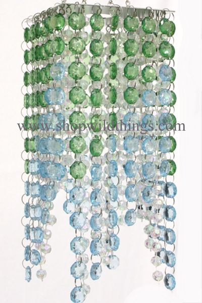"""Chandelier """"Roxie"""" Crystals-<BR><B>3 Colors Available</B>"""