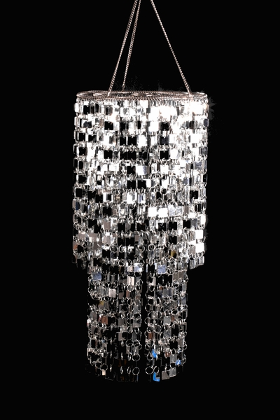 "COMING SOON! Chandelier ""Shimmy"" - Silver 8.5"" x 19"""