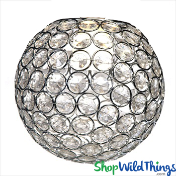 "Chandelier, Table Decor, Lamp or Vase Topper ""Tatiana"" - Crystal Beaded Sphere 6 1/2"" - BUY MORE, SAVE MORE!"