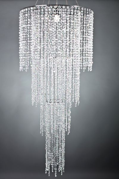 COMING SOON! Chandelier Tiffany 4 Tier- Crystal Iridescent - 6 ft