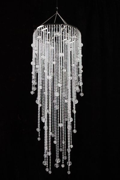 "Chandelier Vanessa  - Crystal Iridescent - 39"" Long"