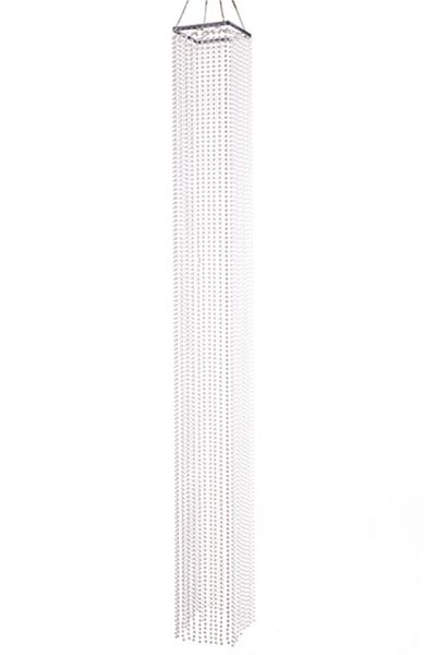 """Chandelier White Pearls 4' Long x 7"""" Square"""