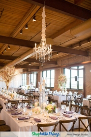 Chandeliers as Cost Effective Wedding and Reception Focal Points
