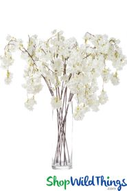 "Cherry Blossom Branch Spray - 50"" - Cream"