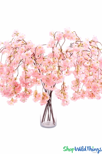 "COMING SOON! Cherry Blossom Branch Spray - 50"" - Pink"