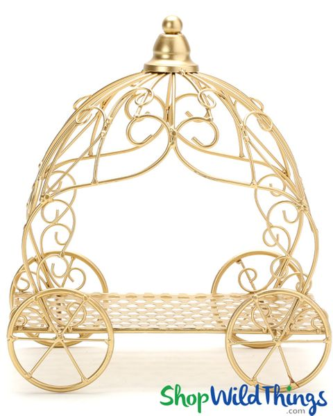"Cinderella Carriage Fancy Centerpiece - Gold - 10"" x 11 1/2"""